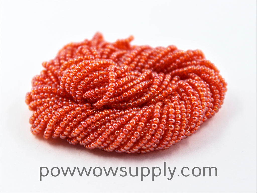11/0 Seed Beads Transparent Luster Dark Orange