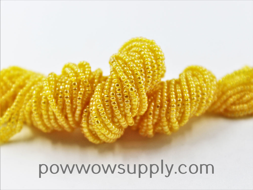 11/0 Seed Beads Transparent Luster Yellow