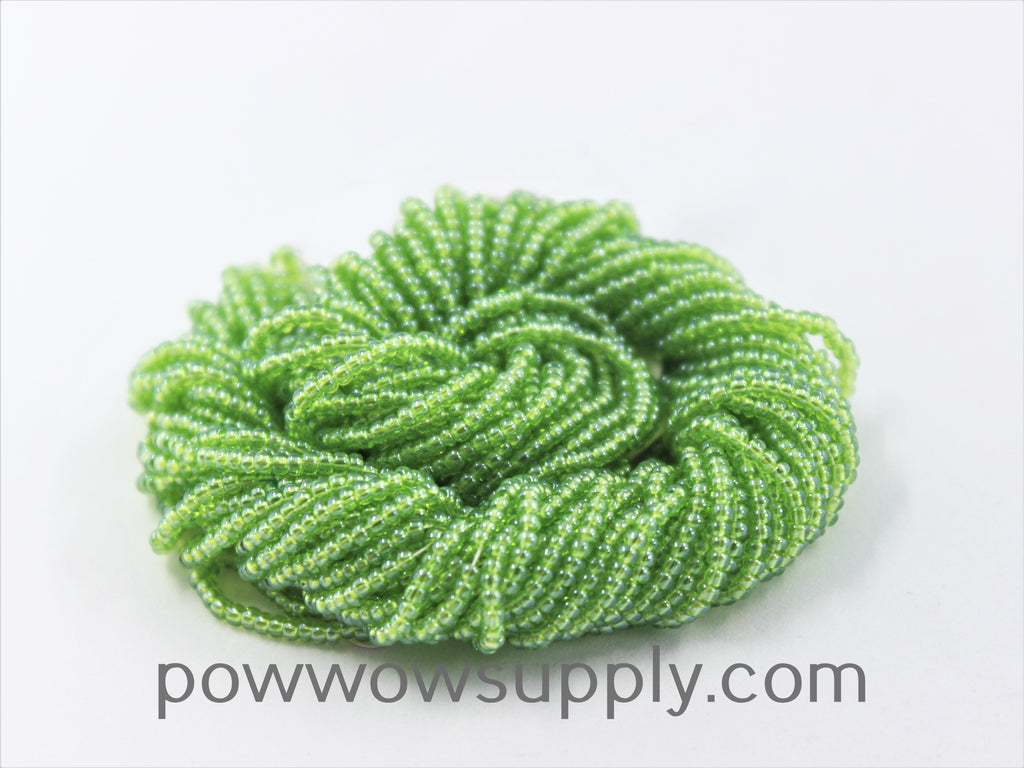 11/0 Seed Beads Transparent Luster Lime