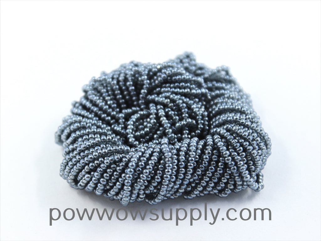 11/0 Seed Beads Transparent Luster Grey
