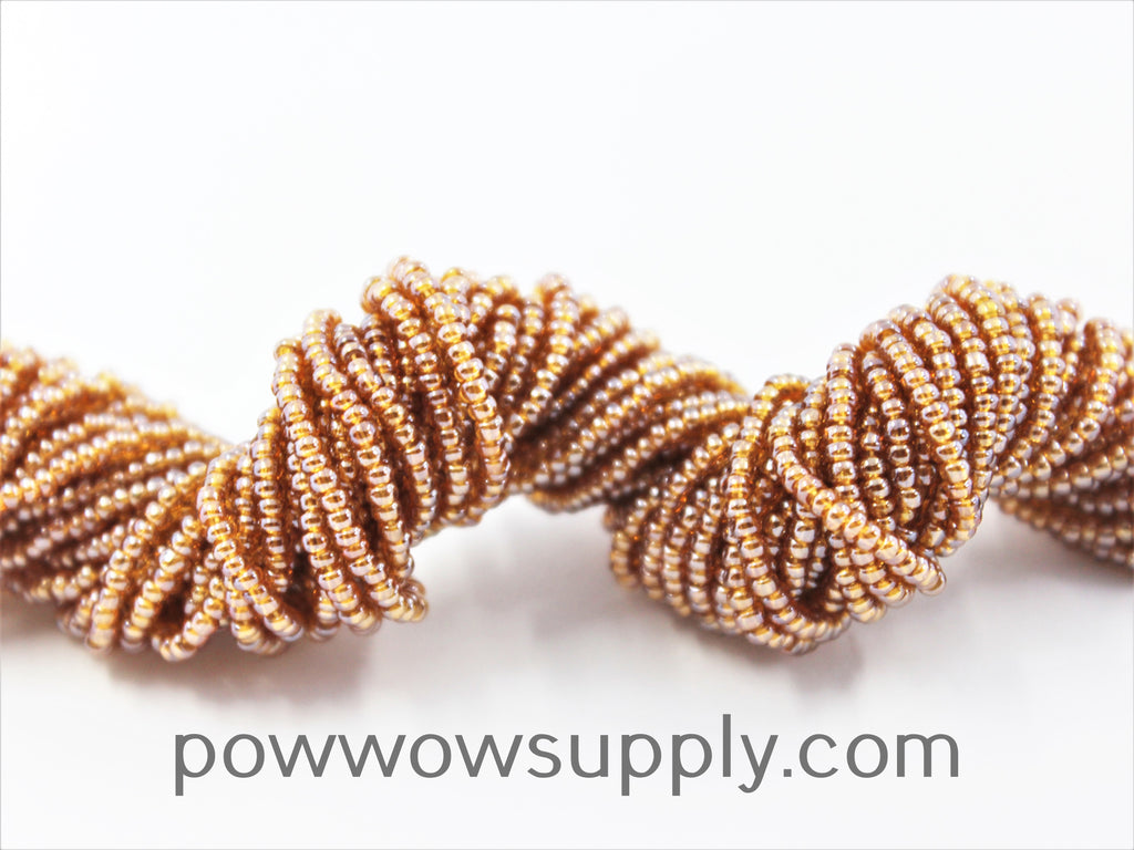 11/0 Seed Beads Transparent Luster Medium Topaz