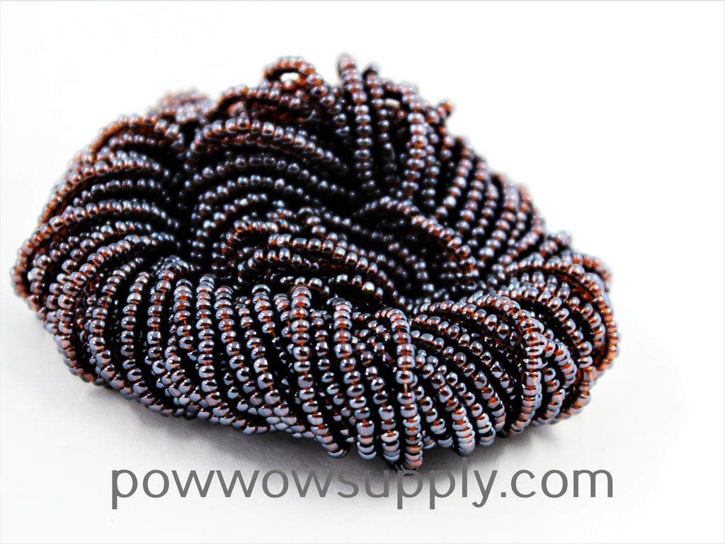 11/0 Seed Beads Transparent Luster Dark Smoke Topaz