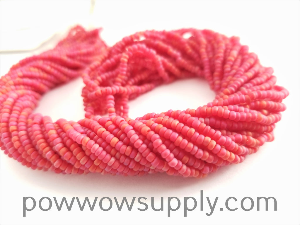 11/0 Seed Bead Transparent AB Matte Red