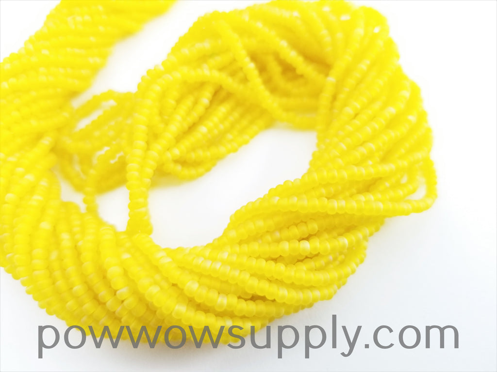 11/0 Seed Bead Transparent AB Matte Yellow