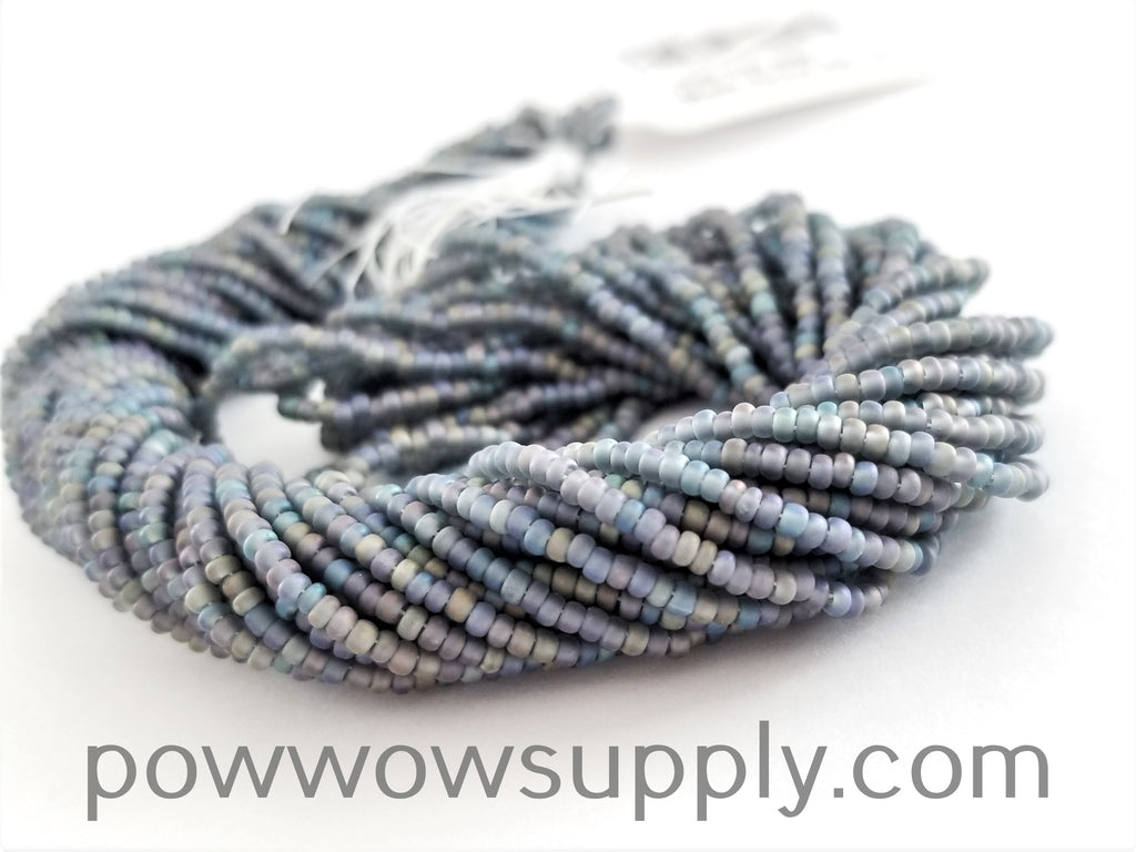 11/0 Seed Bead Transparent AB Matte Smoke Grey