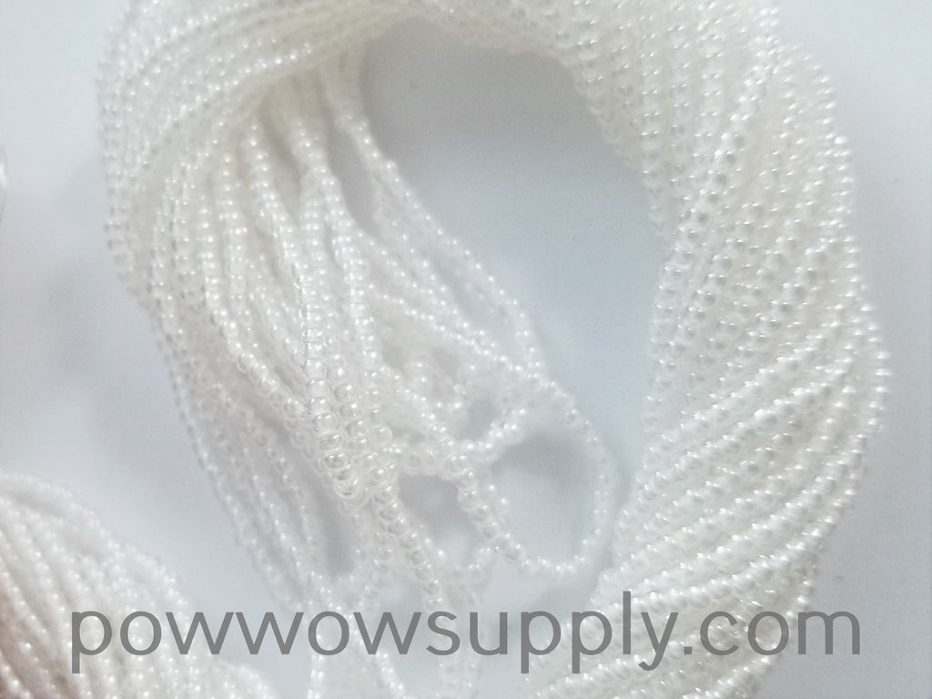 11/0 Seed Bead White Lined Crystal