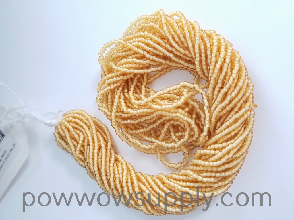 11/0 Seed Bead White Lined Light Topaz