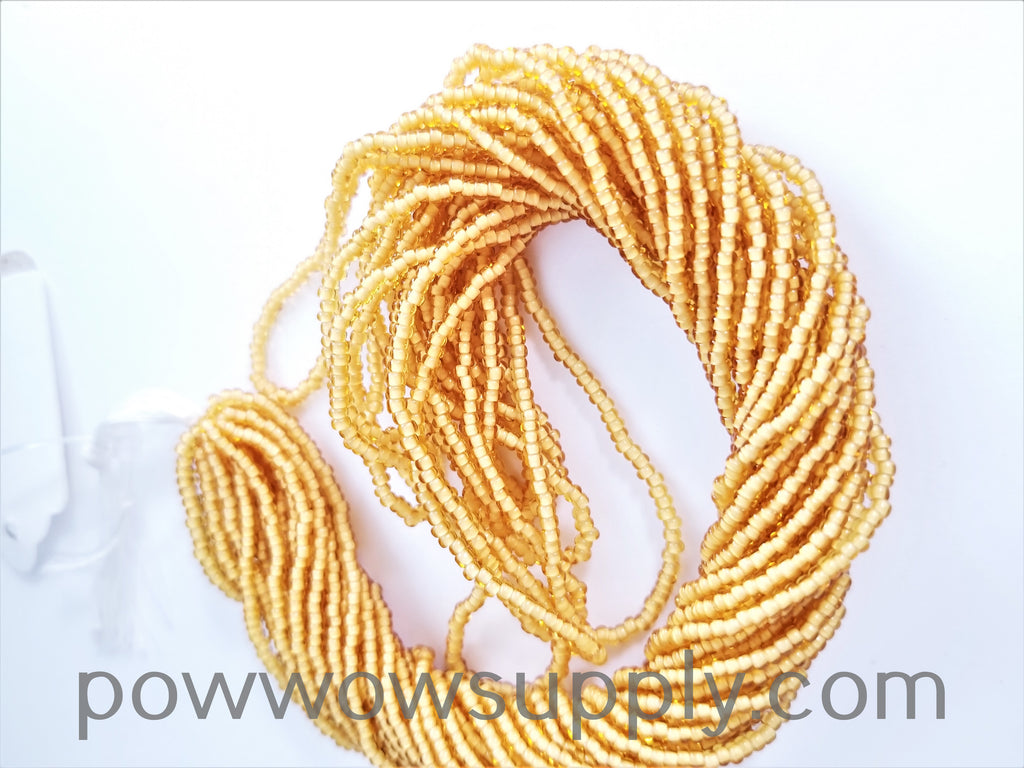 11/0 Seed Bead White Lined Topaz