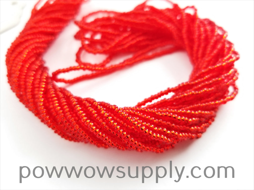 11/0 Seed Beads Silver Lined Light Red