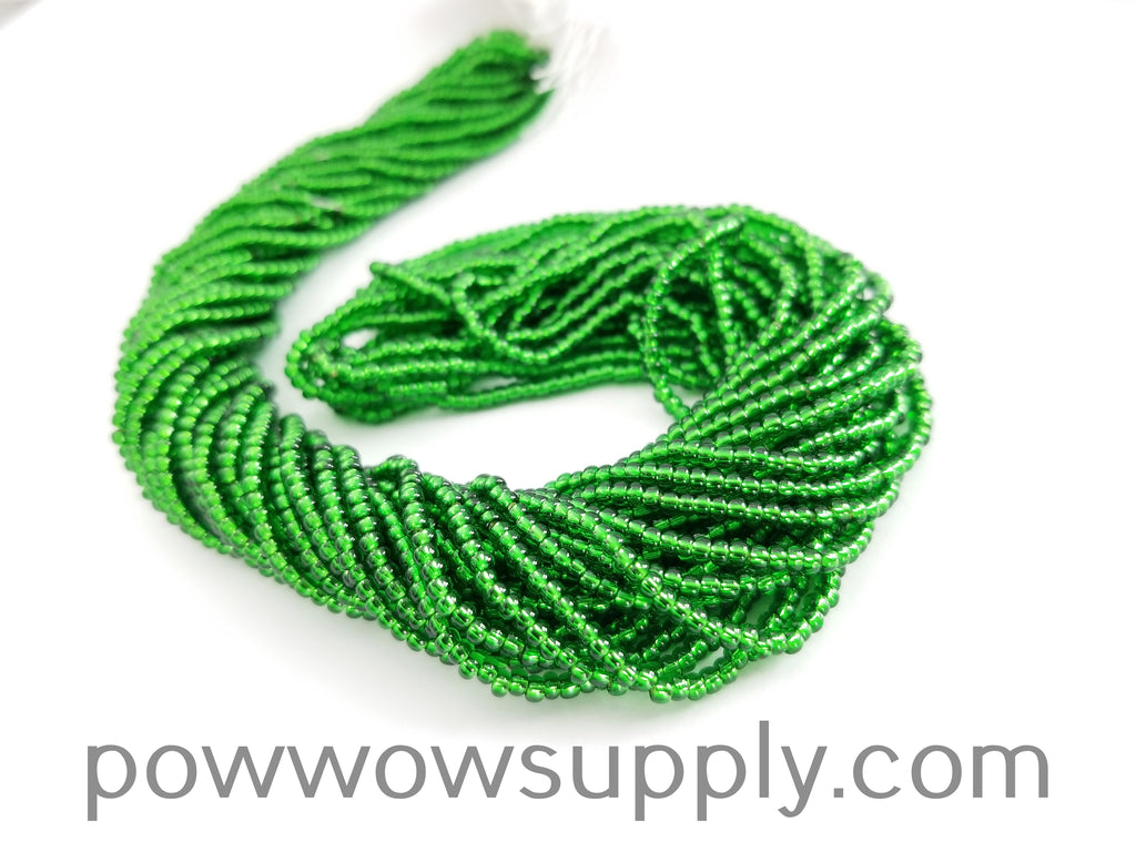 11/0 Seed Bead Silver Lined Green