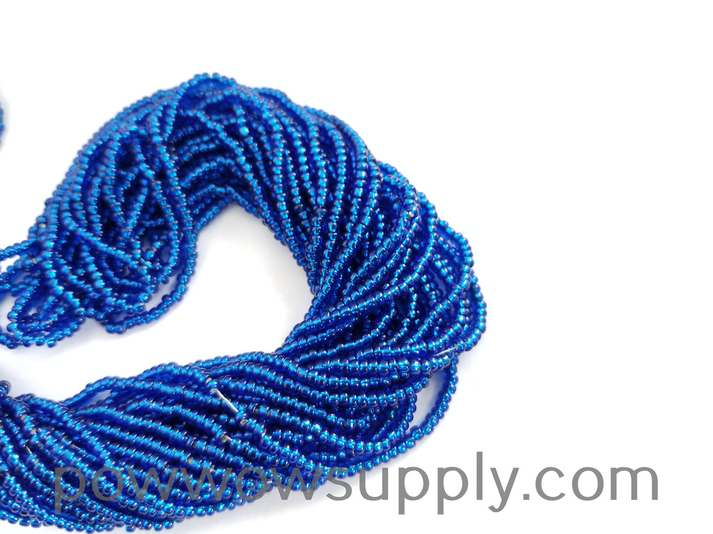 11/0 Seed Bead Silver Lined Capri Blue