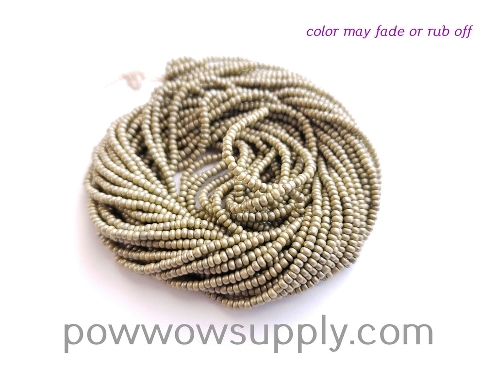 11/0 Seed Beads Pearl Matte Olive