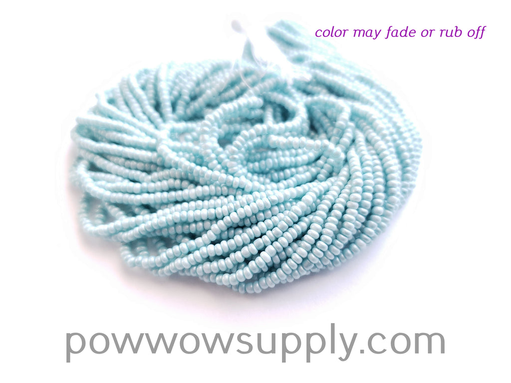 11/0 Seed Beads Pearl Matte Ice Blue