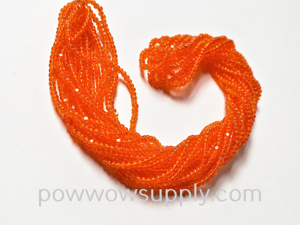 13/0 Charlottes Transparent Orange  (Beader's Paradise Stock)