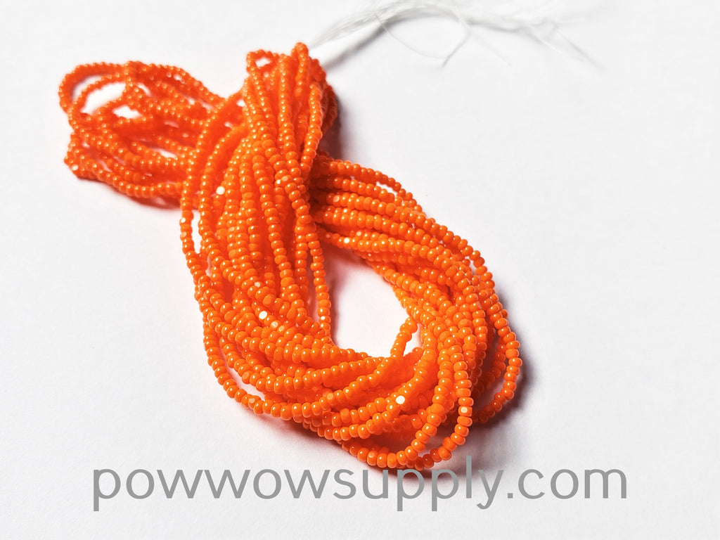 14/0 Charlotte Cut Opaque Orange (16 strands, short) (Beader's Paradise Stock)