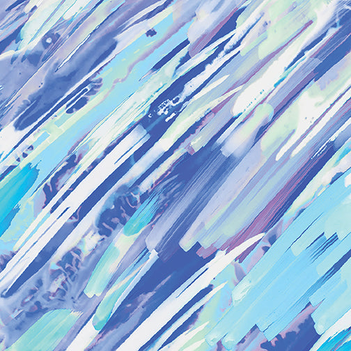 Brush Strokes Lt Blue-Aqua