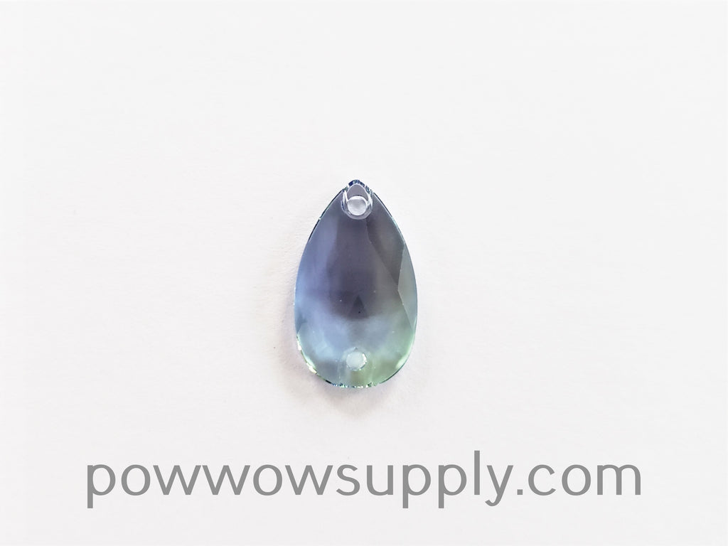 Swarovski 3230 Pear 12x7mm Provence Lavender-Chrysolite Blend