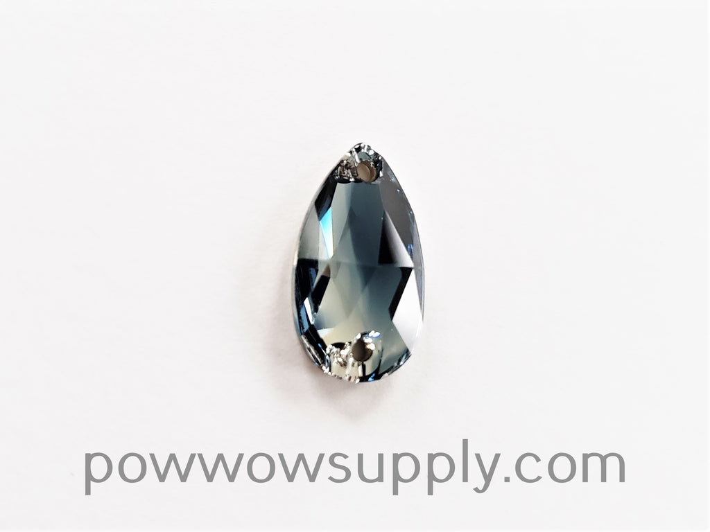 Swarovski 3230 Pear 12x7mm Montana Blue-Crystal Blend