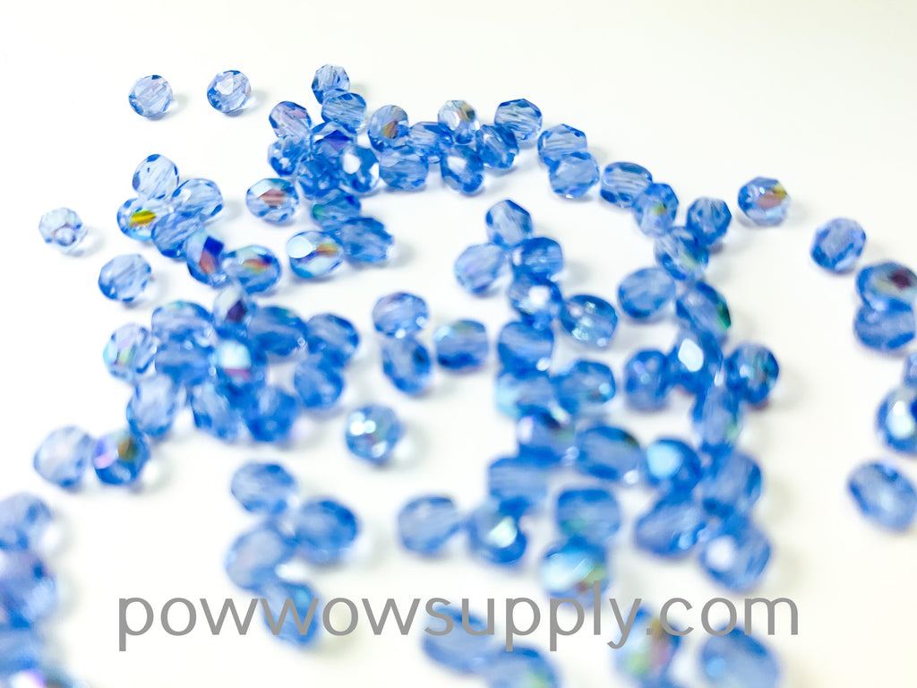 4mm Fire Polish Transparent AB Light Sapphire