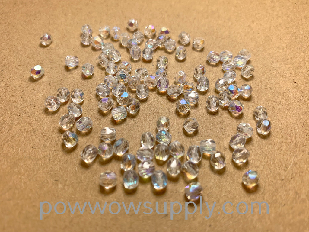 4mm Fire Polish Transparent AB Crystal