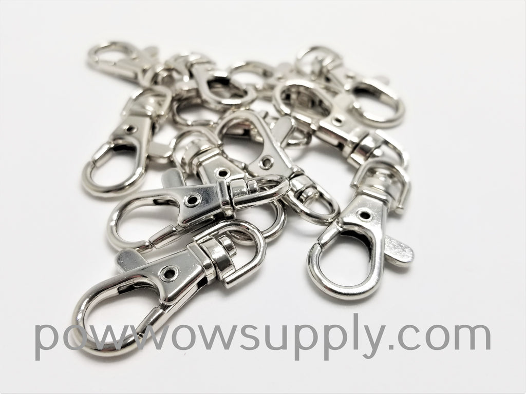 18mm Swivel Clip, White-Plated Zinc (12 pieces)