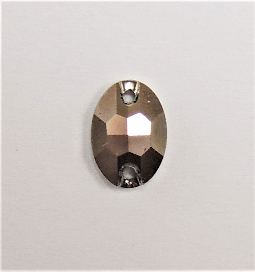 Swarovski 3210 Oval 10x7mm Metallic Light Gold