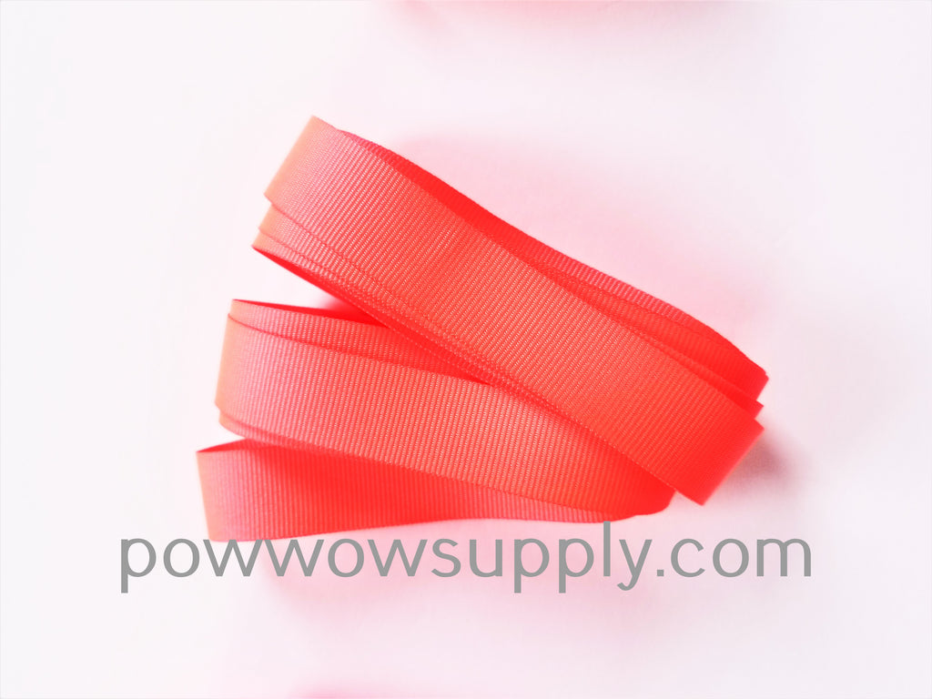 "3-4"" Grosgrain Neon Coral (5 yards)"