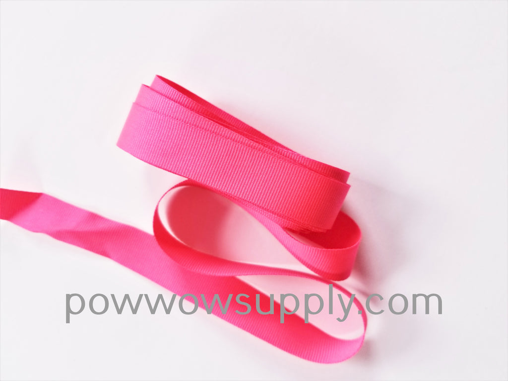 "3-4"" Grosgrain Neon Pink (5 yards)"