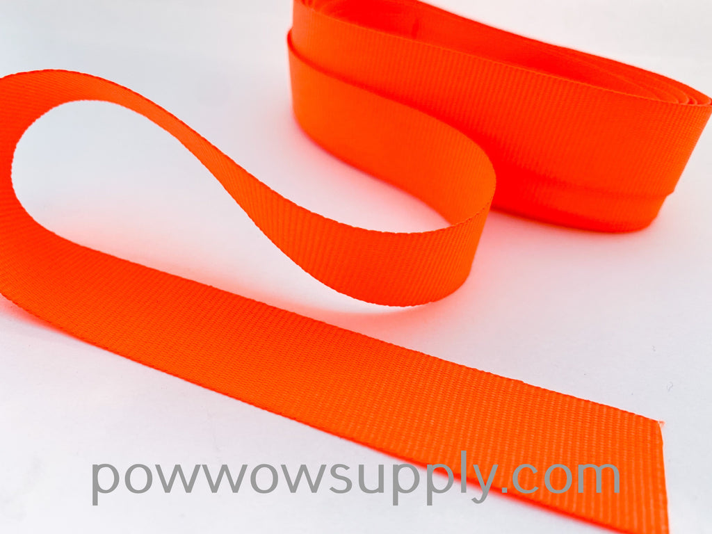 "3-4"" Grosgrain Neon Orange (5 yards)"