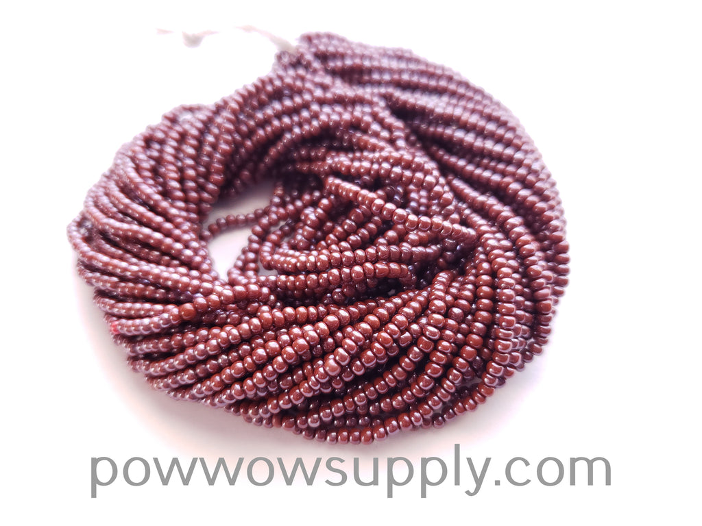 10/0 Seed Beads Opaque Luster Light Brown