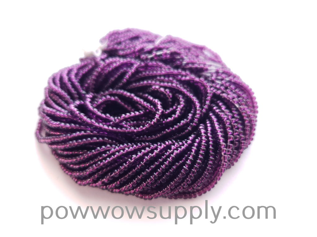 10/0 Seed Beads Transparent Dark Amethyst