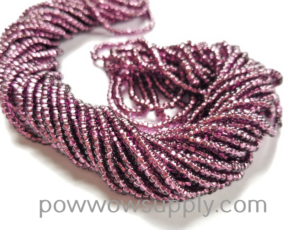 10/0 Seed Beads Silver Lined Amethyst