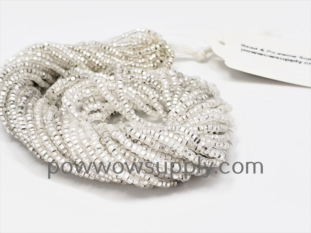 10/0 Seed Beads Silver Lined Matte Crystal