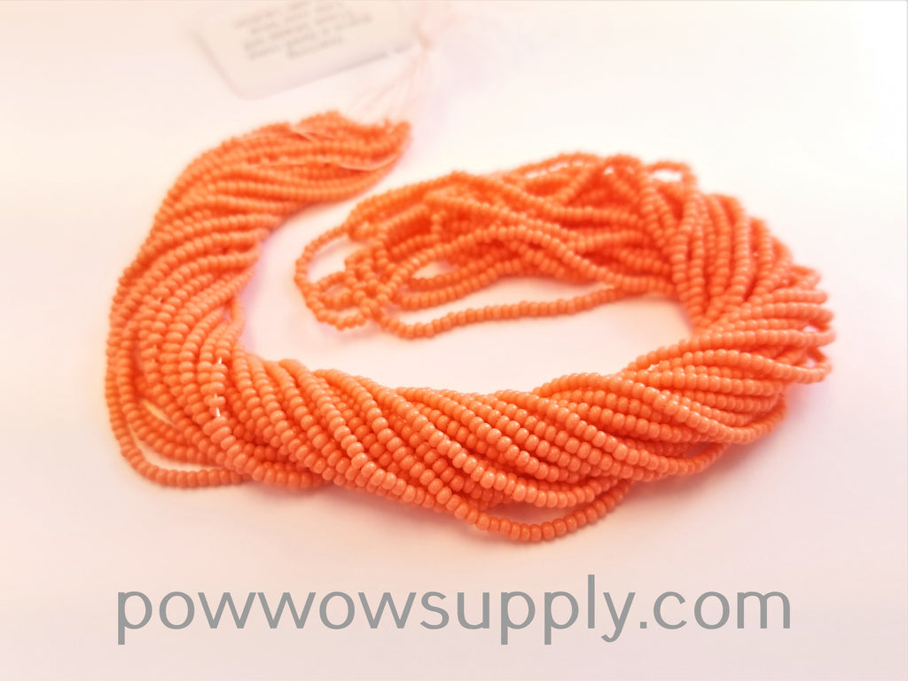 11/0 Seed Beads Opaque AB (dyed) Light Coral