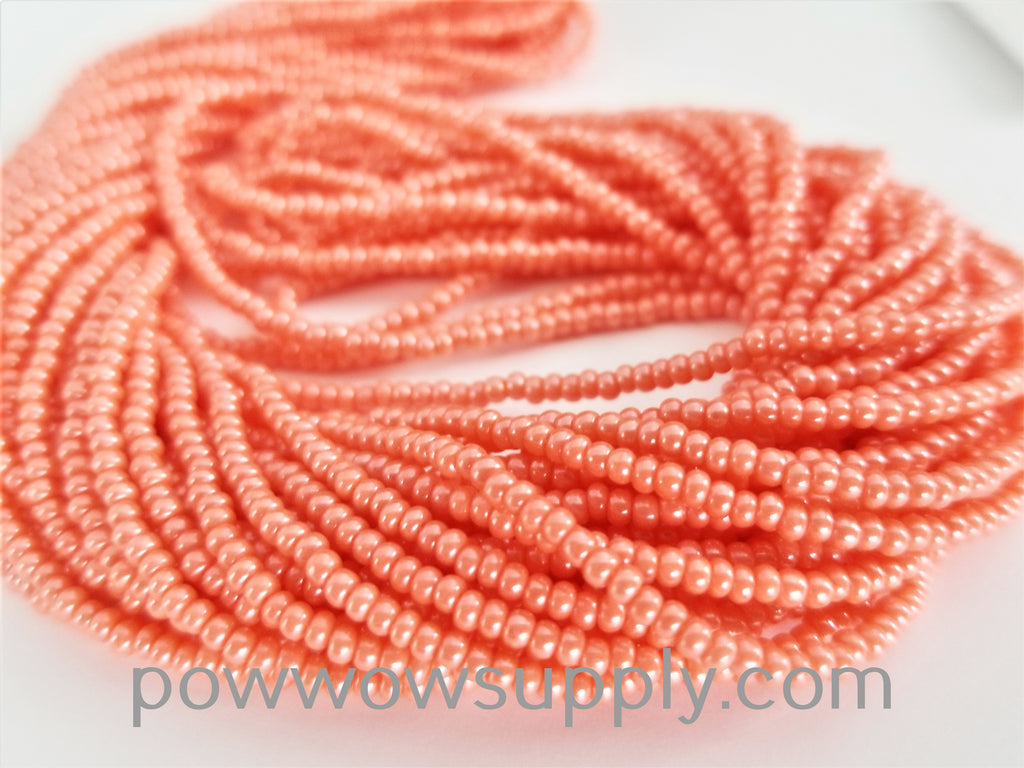 11/0 Seed Beads Opaque Luster (dyed) Light Coral