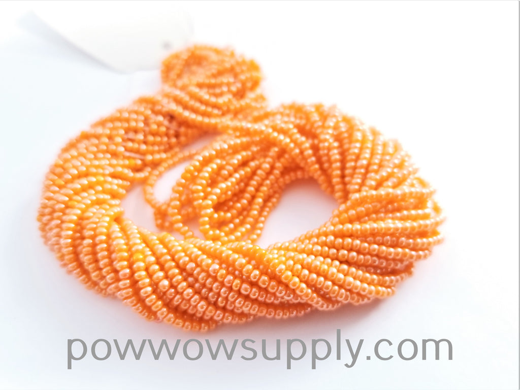 11/0 Seed Beads Opaque Luster Orange