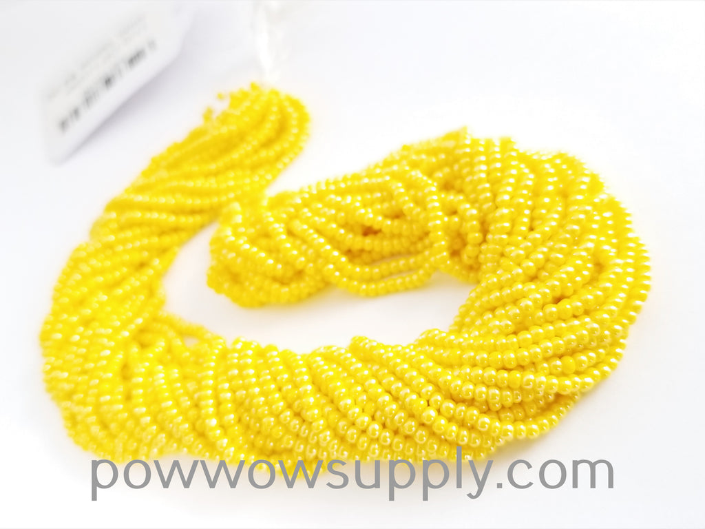 12/0 Seed Beads Opaque Luster Golden Yellow