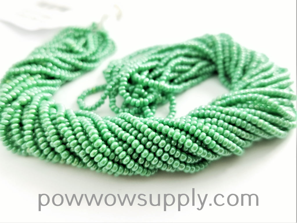 11/0 Seed Bead Opaque Luster Light Green