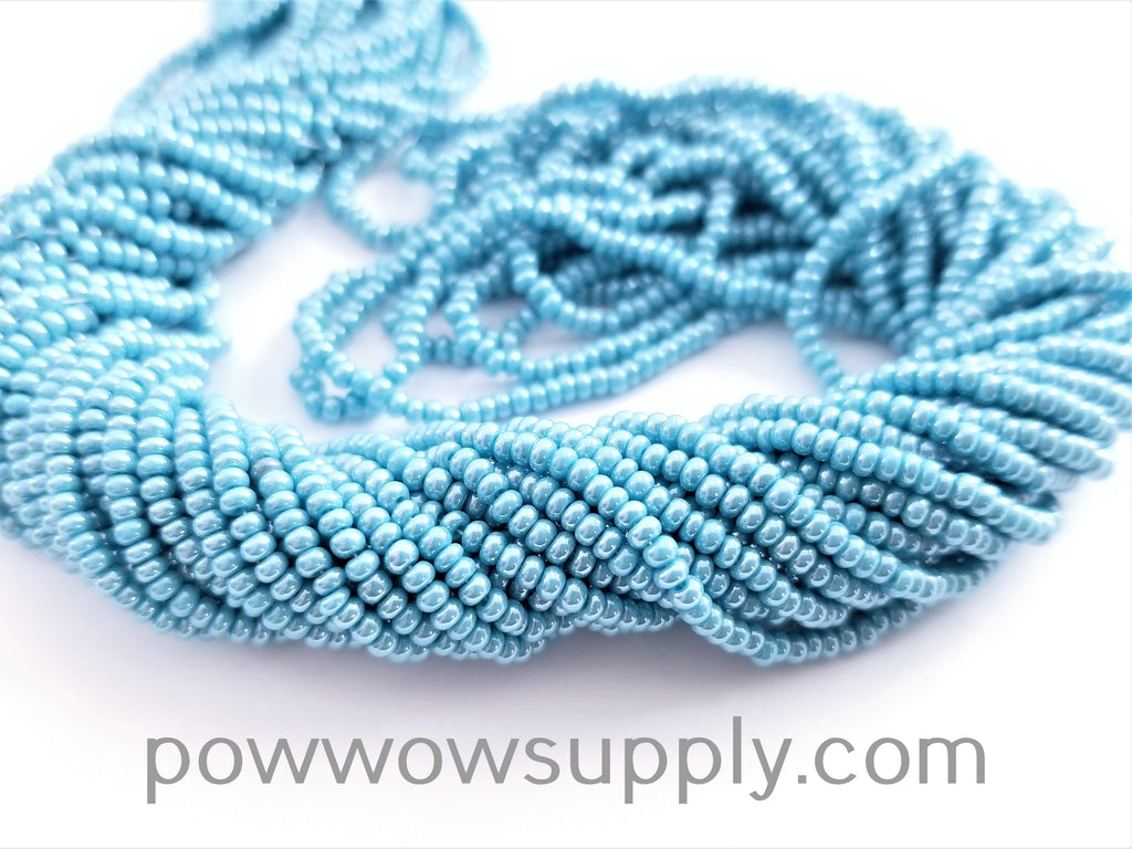 11/0 Seed Beads Opaque Luster Sky Blue