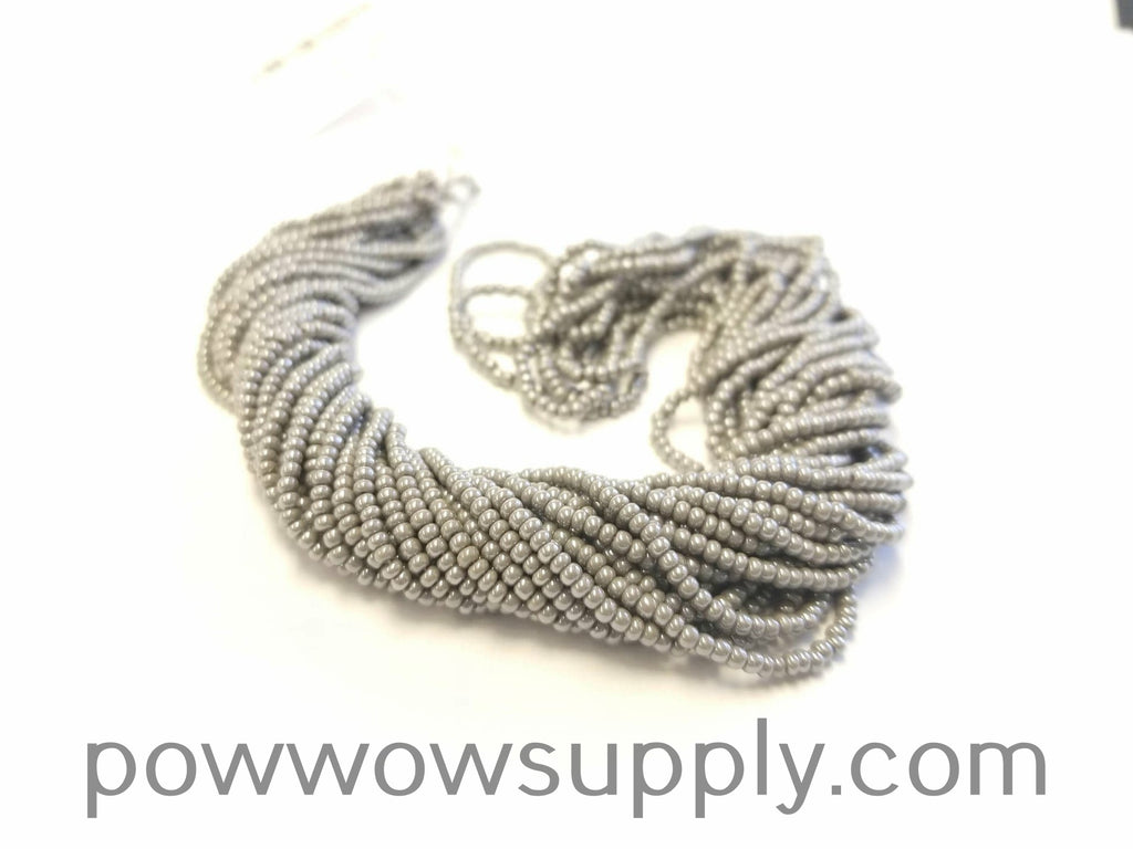 11/0 Seed Beads Opaque Luster Grey