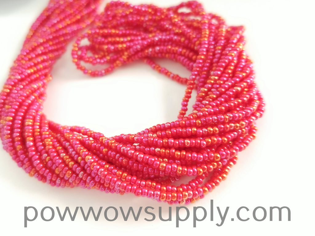 11/0 Seed Beads Opaque AB Red