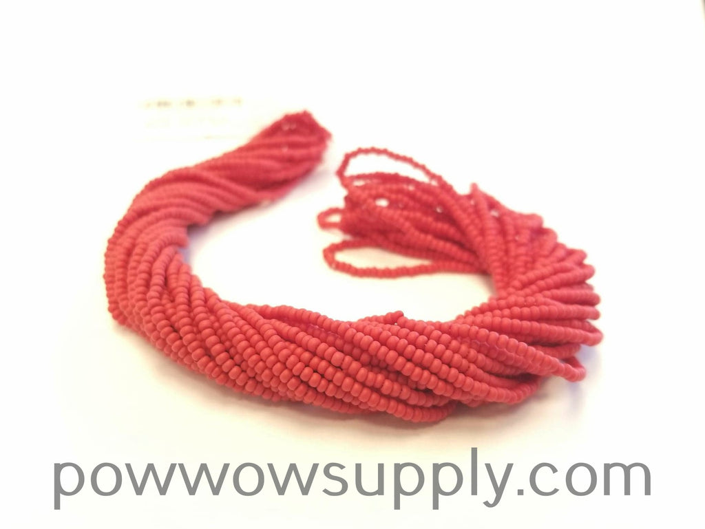 11/0 Seed Bead Opaque Matte Red