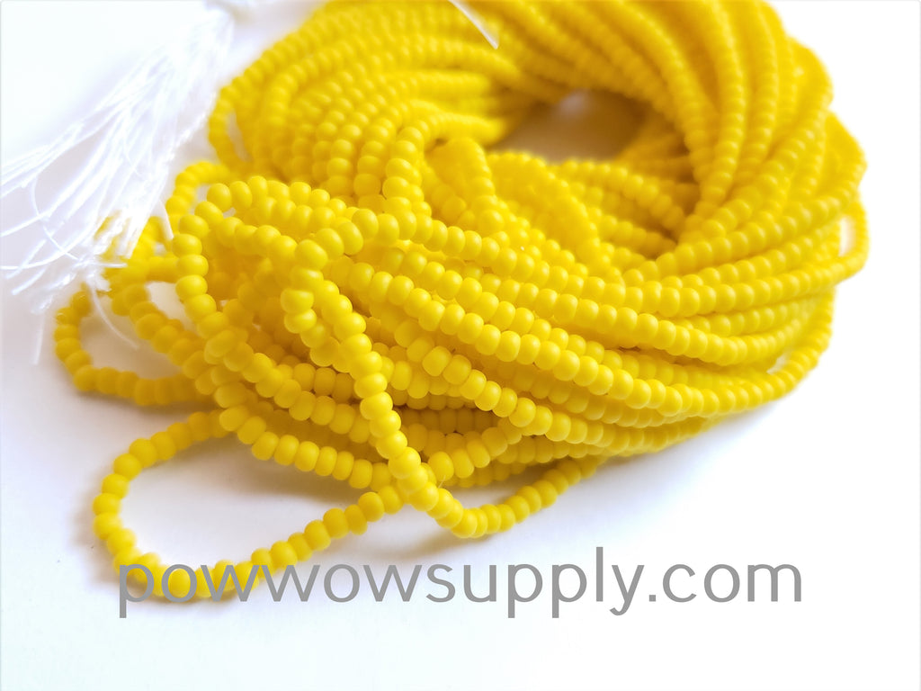 11/0 Seed Beads Opaque Matte Lemon Yellow