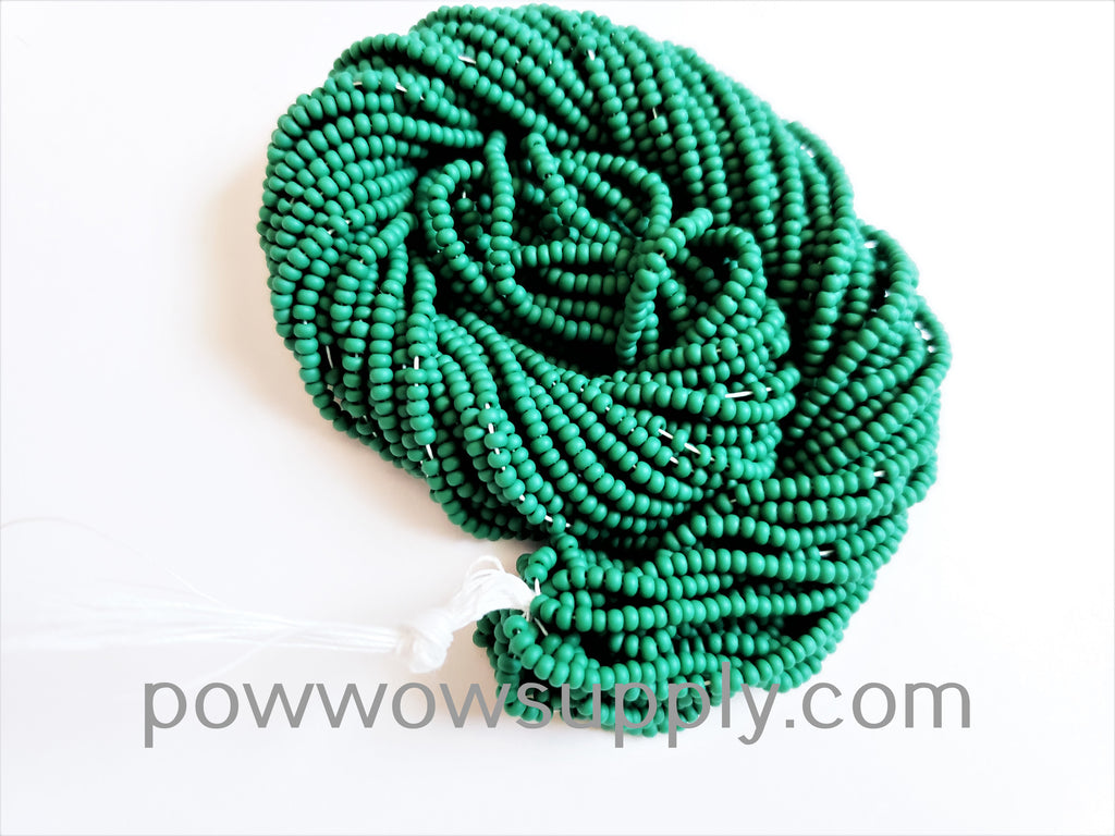 11/0 Seed Beads Opaque Matte Medium Green