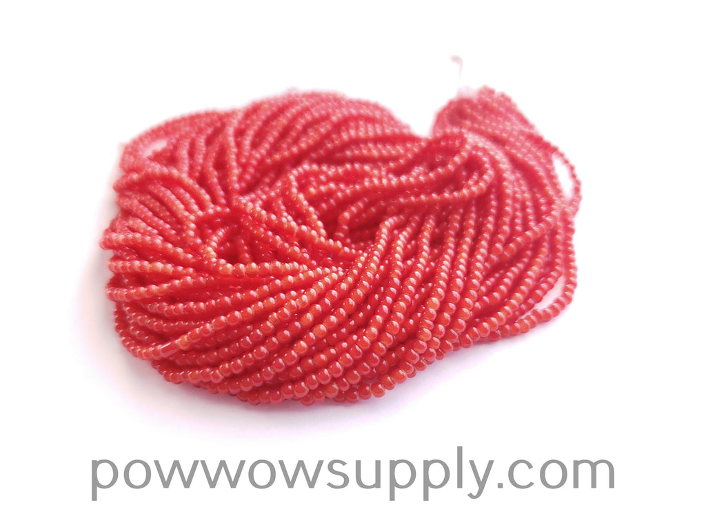 11/0 Seed Bead Red Whiteheart
