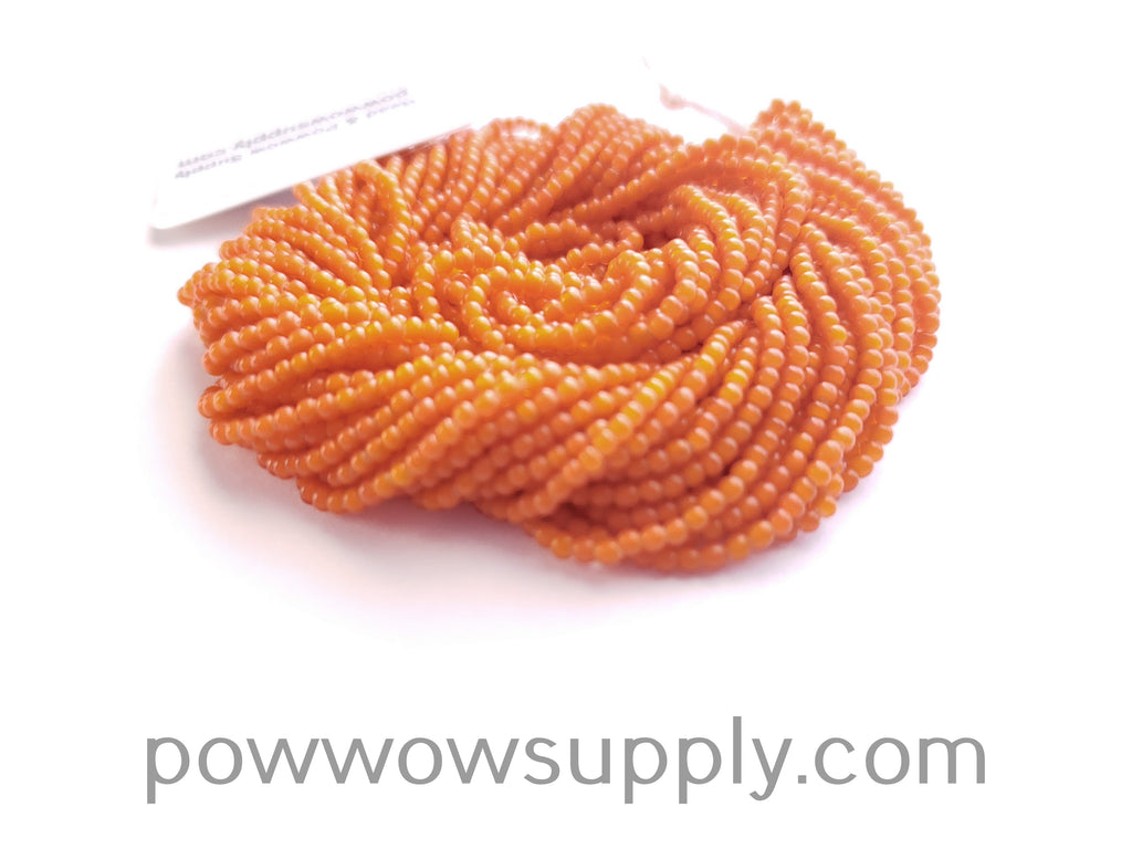 11/0 Seed Bead Orange Whiteheart