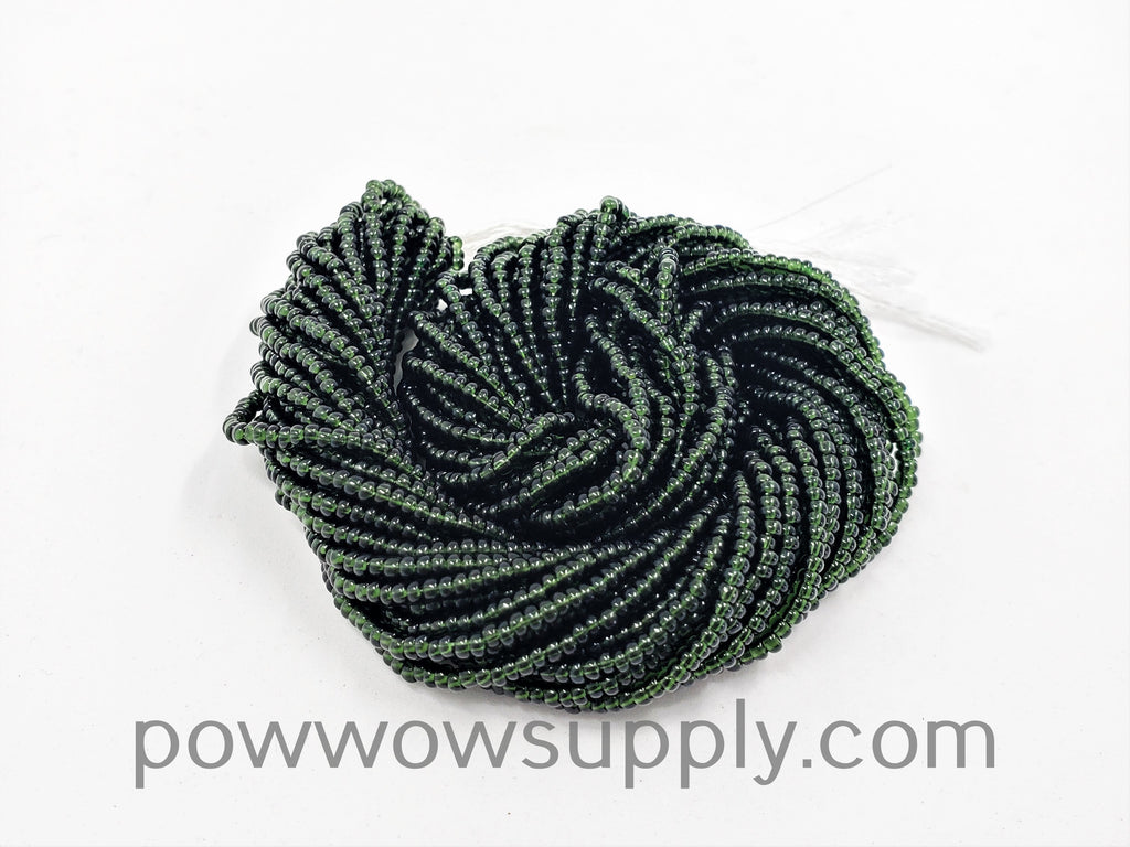 11/0 Seed Bead Transparent Dark Olivine