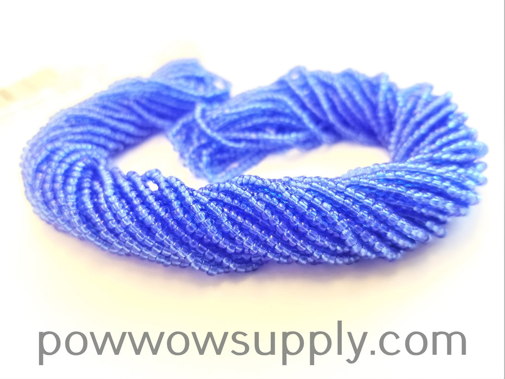 12/0 Seed Beads Transparent Light Sapphire