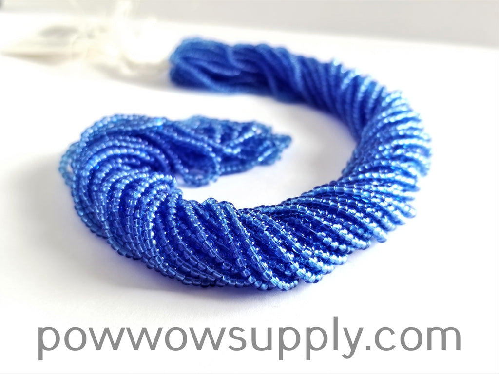 13/0 Seed Beads Transparent Sapphire
