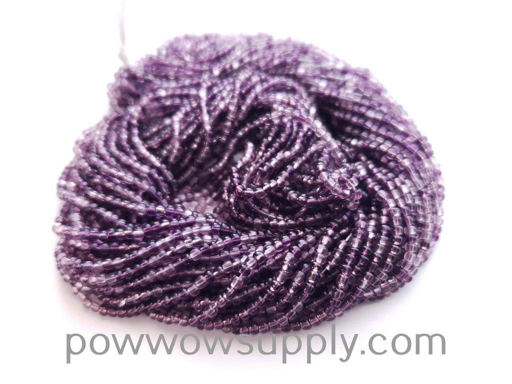 11/0 Seed Beads Transparent Amethyst Mix